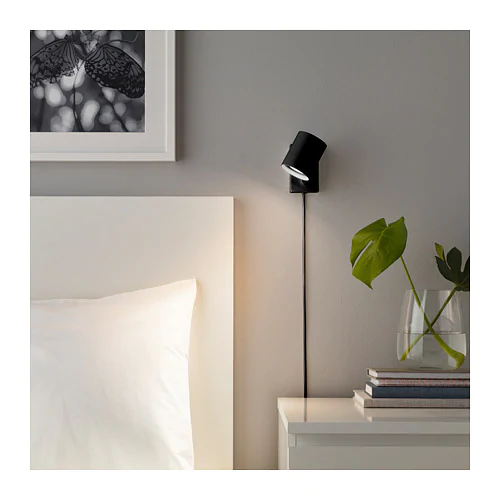NYMÅNE Wall/reading lamp, anthracite IKEA Reading lamp