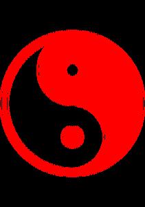 Publicdomainvectors Org Merah Yin Yang Yin Yang Simbol Warna
