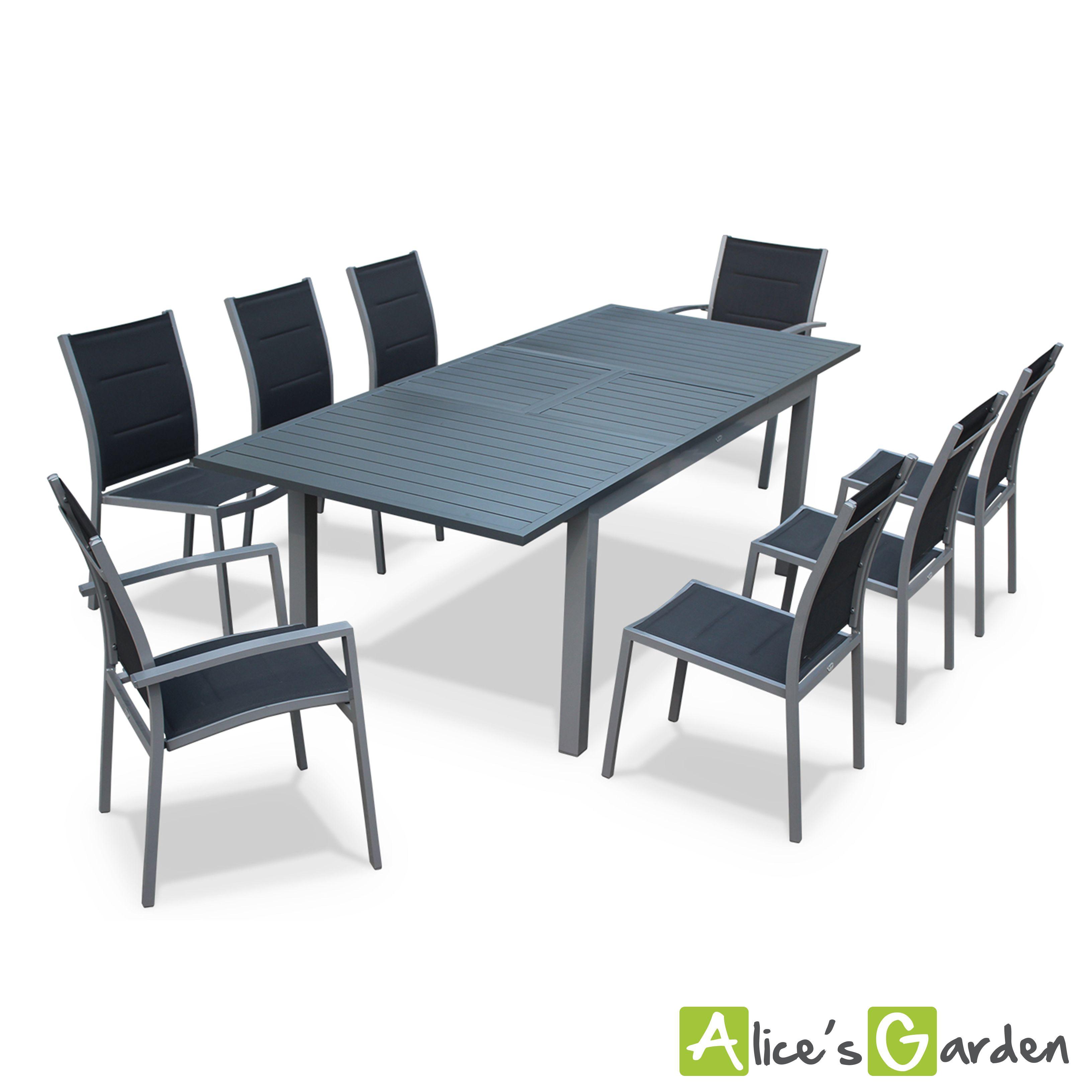 Chicago table de jardin  rallonge extensible 8 places