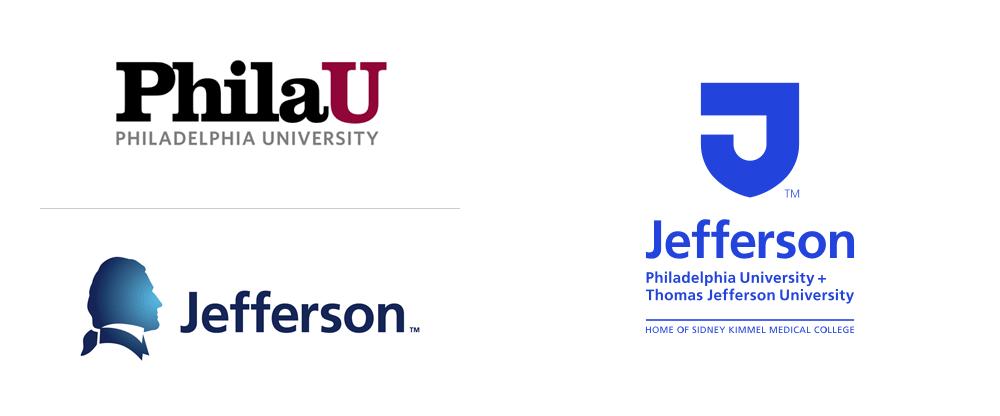 New Logo For Philadelphia University And Thomas Jefferson University Identity Logo Identity Typography Branding