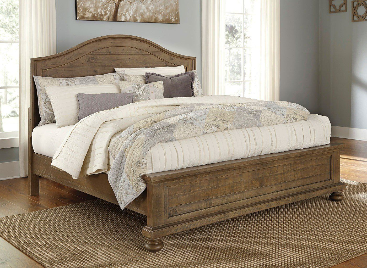 Trishley Panel Bed Bedroom Furniture Sets Small Master Bedroom Master Bedroom Design