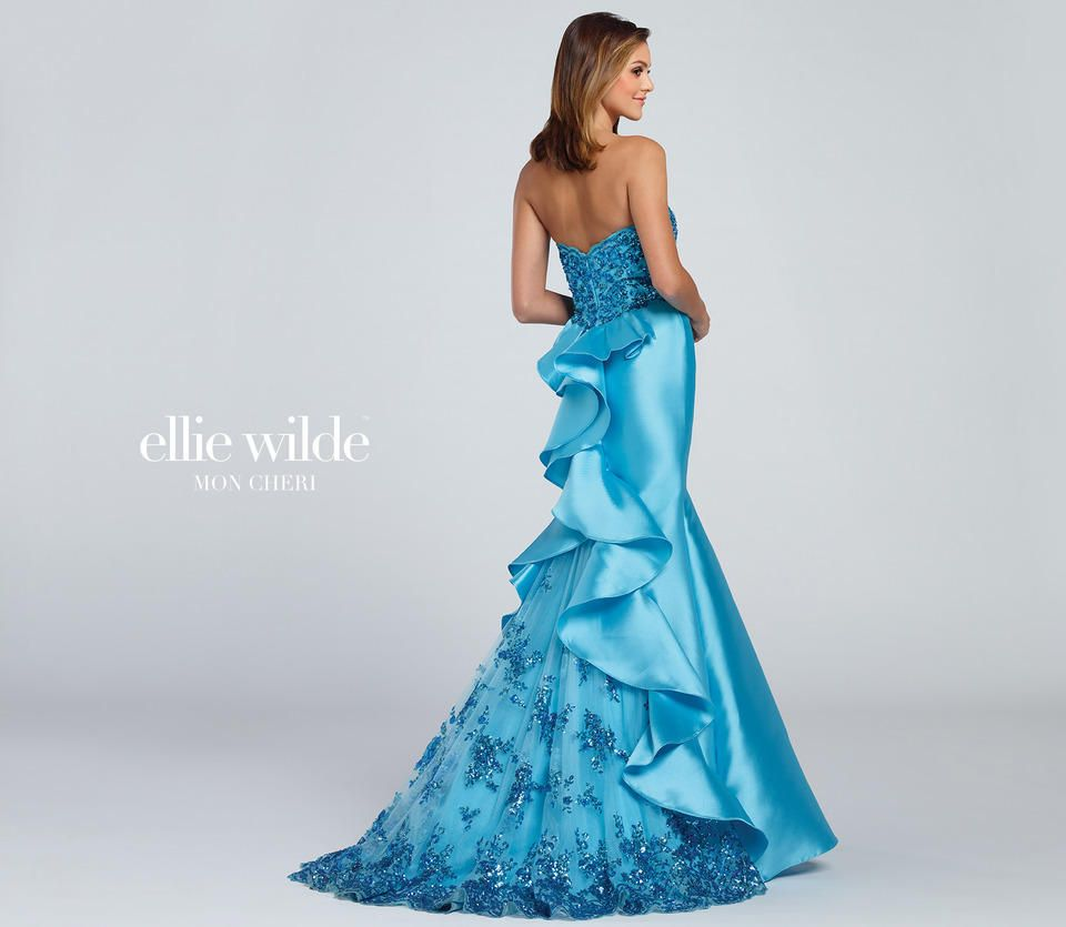 Ellie Wilde by Mon Cheri EW117060 Strapless Mikado mermaid gown ...