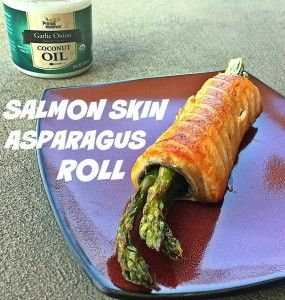 Salmon Skin Asparagus Roll by GiGi Eats Celebrities | Featured on #RiggedRecipesLinky