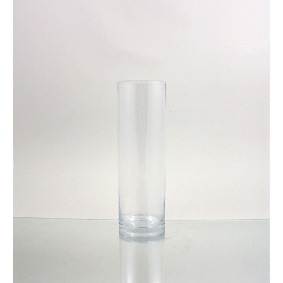 4 x 12 Clear Glass Cylinder Vase (BULK Case of 12 = $6.42 Per Vase ...