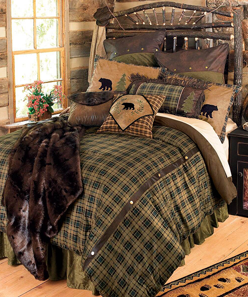Photo of Cabin Bedding Alpine Bear Rustic Collection