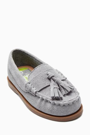 Grey Tassel Loafers (Younger Boys) Next UK