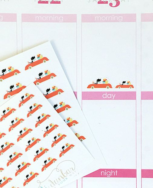 24 Shopping Spree Stickers – Perfect for Erin Condren, Plum Paper Planner, Inkwell Press, Filofax, Scrapbooking & More