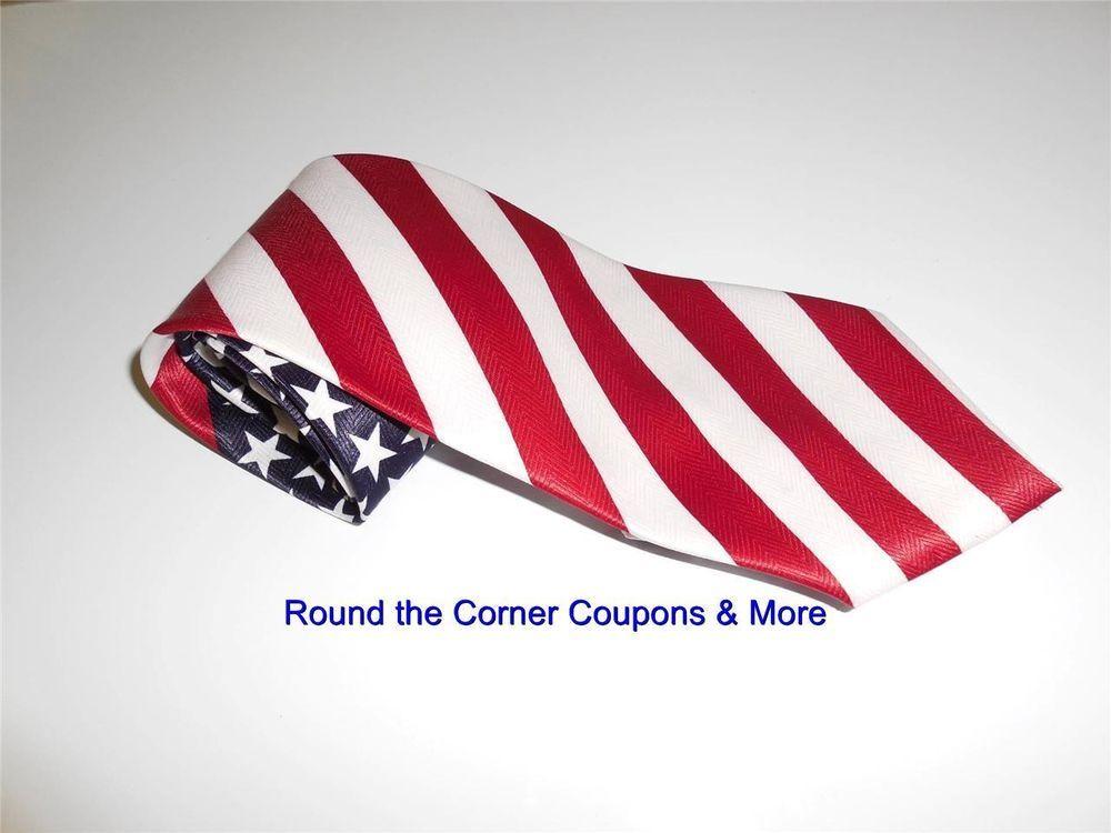8b35f050b3a American Flag Men s Neck Tie USA Patriotic Polyester EUC Veneto Italy brand   VenetoItaly  NeckTie