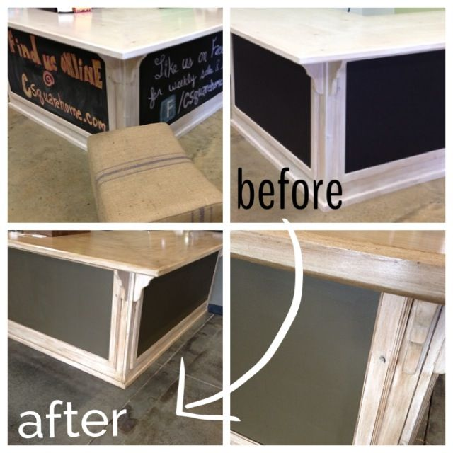 Refinishing Existing Pickled Whitewash S Counter Cash Wrap Cabinets Before Chalk Paint Inset After Dark Brown Glaze Over The