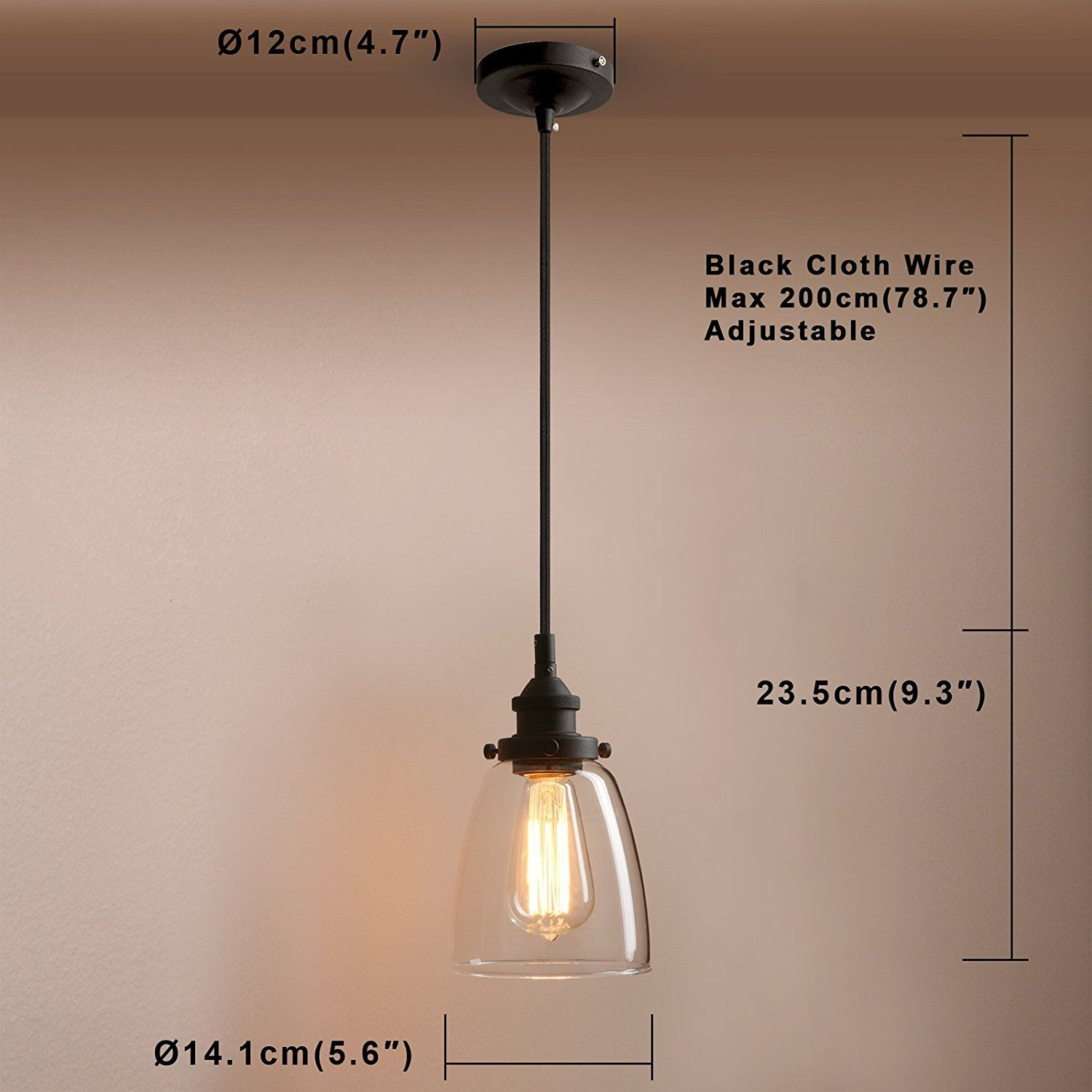 Pathson Retro Pendant Lighting Industrial Small Hanging Light With Clear Glass A Flush Mount Ceiling Light Fixtures Small Hanging Lights Ceiling Light Fixtures