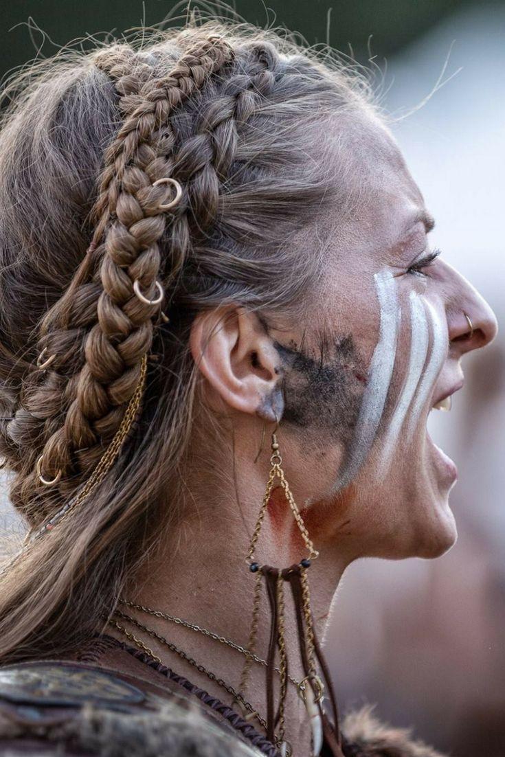 Frisur Fur Wikinger Oder Nordische Kriegerin Nordic Viking Warrior Larp Co Frisur Fur Krieger Viking Warrior Woman Warrior Woman Viking Makeup