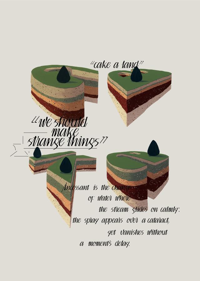CAKE A LAND - POSTHYPHEN GRAPHIC DESIGN