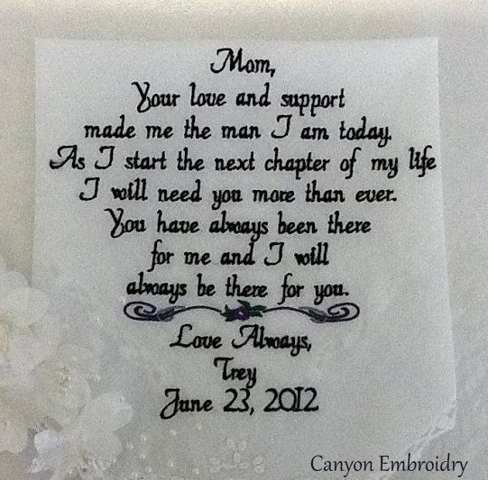 Mom+from+Son+Gift+Personalized+Handkerchief+by