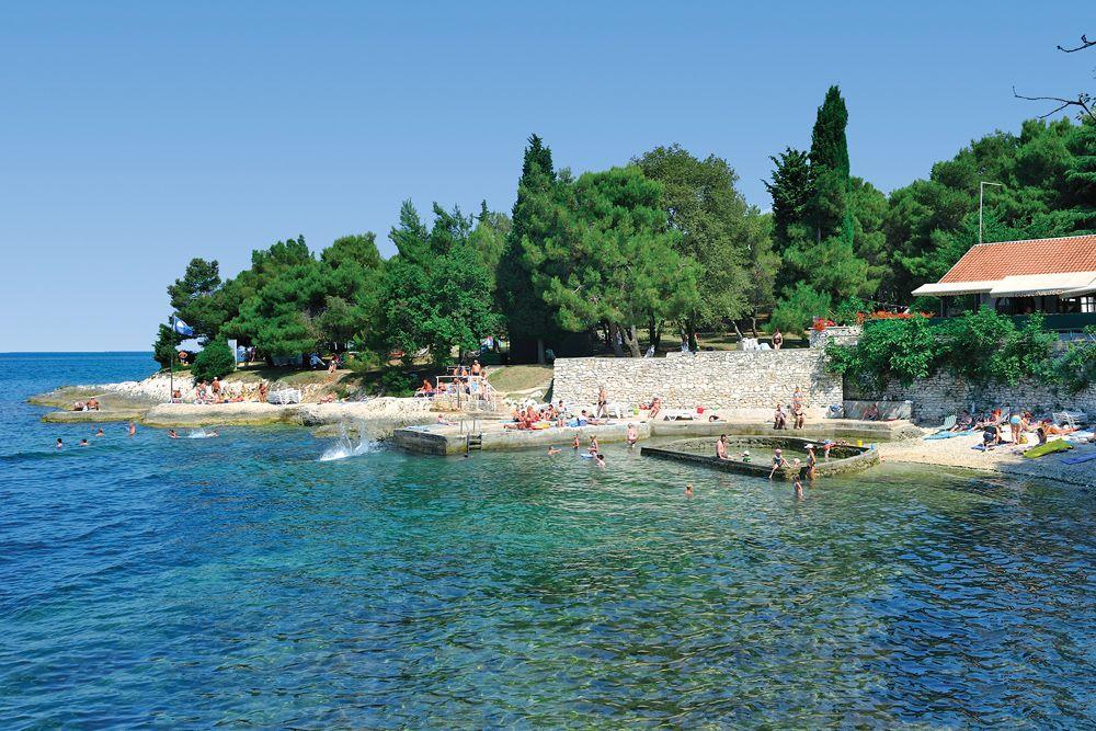 Beach Laguna Bellevue Porec Istria Croatia Porec