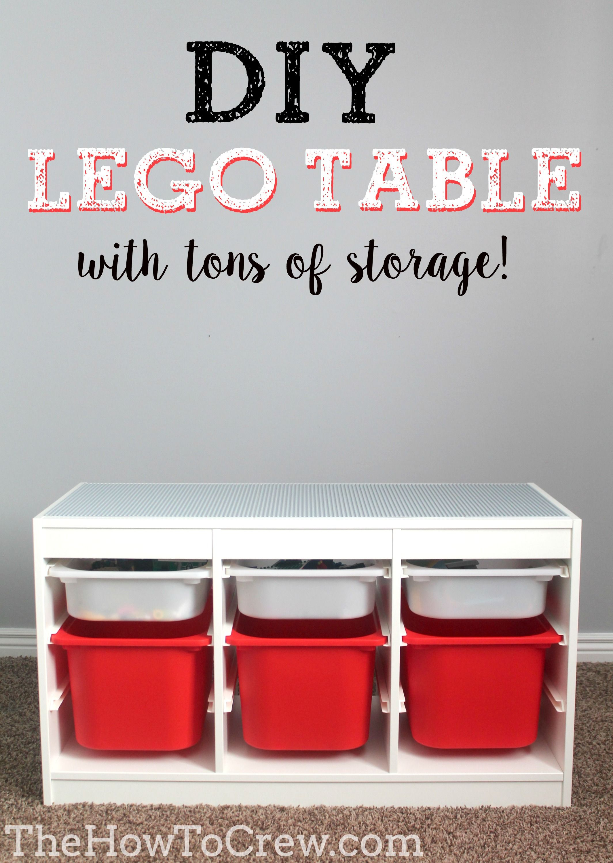 Lego table using Ikea s Trofast system Boys Room Pinterest