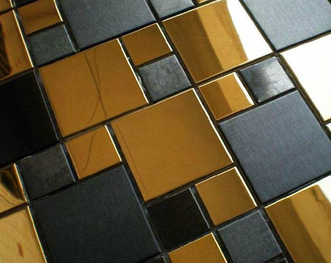 Hexagon Metal Mosaic Wall Tiles Backsplash Smmt055 Copper Bronze Black Stainless Steel Metallic Mosaic Tiles Backsplash Metal Mosaic Wall Mosaic Wall Tiles Metal Mosaic Tiles