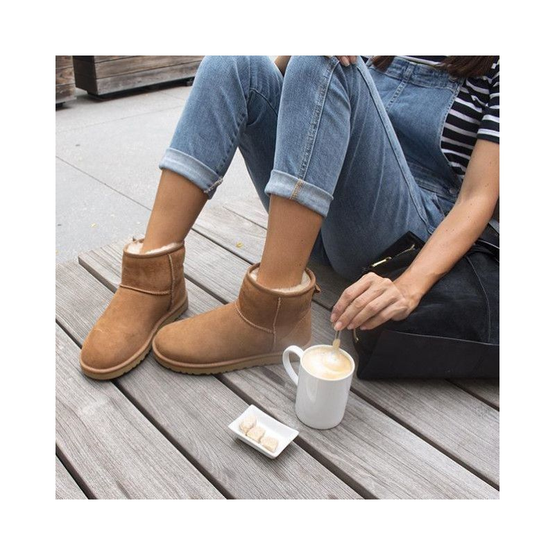 ugg classic mini ankle boots chestnut