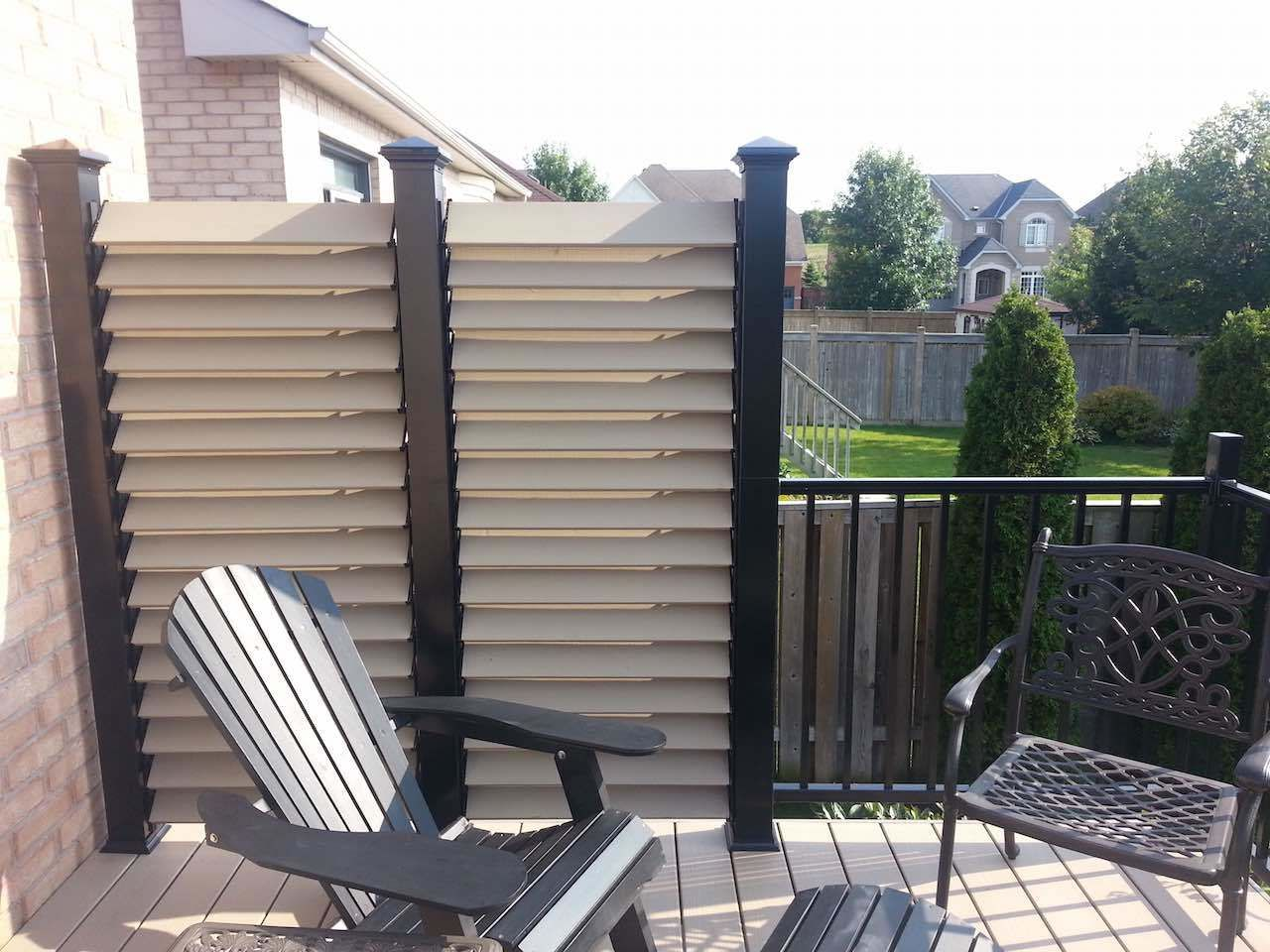 Back porch privacy screen ext rieur pinterest porch for Patio deck privacy screen