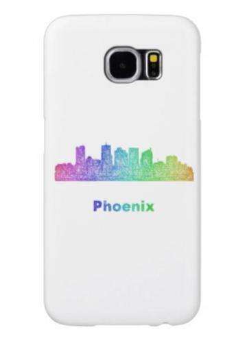 5a512d0f71297 Rainbow Phoenix skyline Samsung Galaxy S6 Cases $44.15 *** Rainbow ...