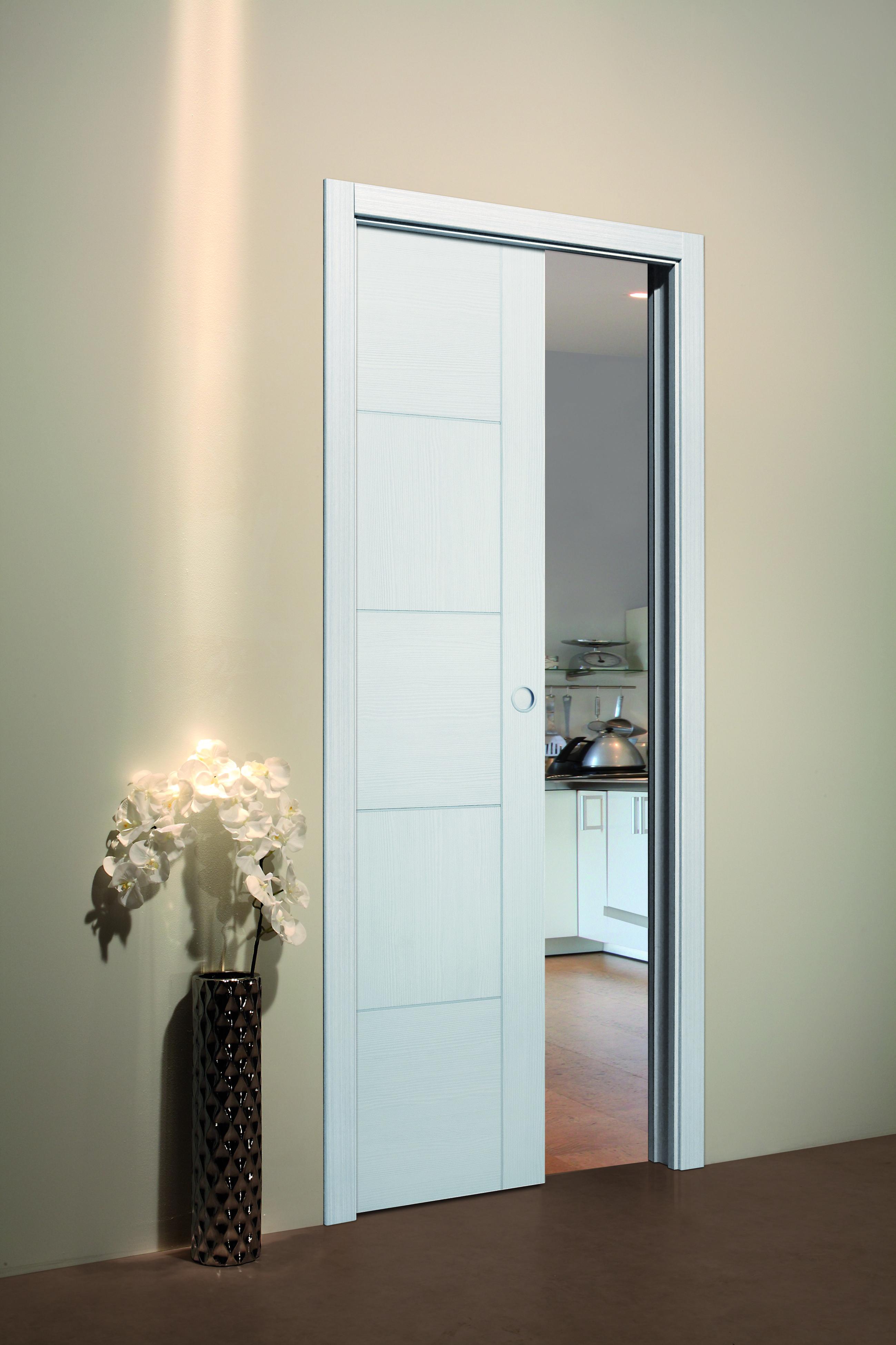 porte coulissante galandage blanche porte coulissante design galandage ou en applique. Black Bedroom Furniture Sets. Home Design Ideas