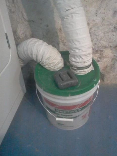 Water Lint Trap From A 5 Gallon Bucket For All Seasons Dryer Lint Trap Indoor Dryer Vent 5 Gallon Buckets