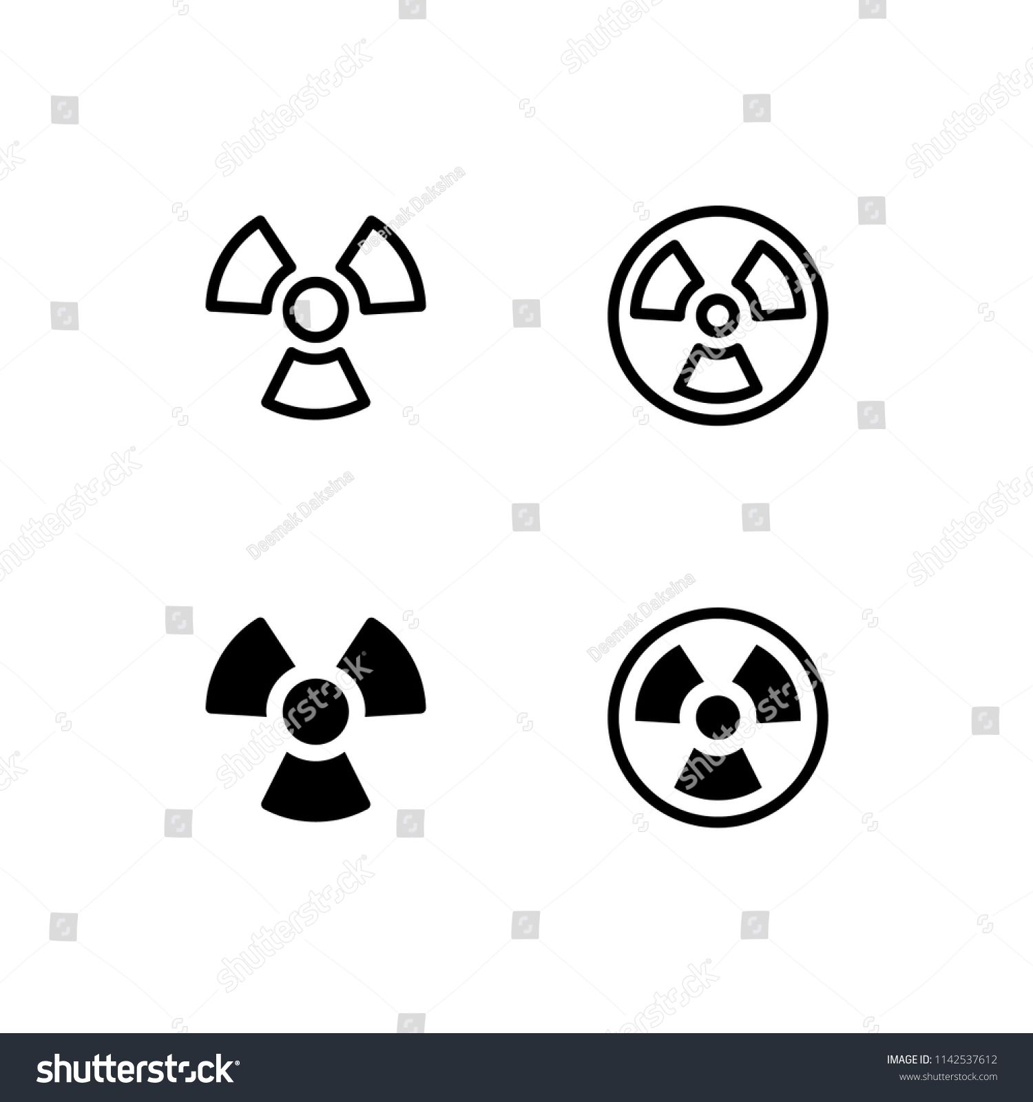 Radioactive Icon Design. radioactive, danger, nuclear