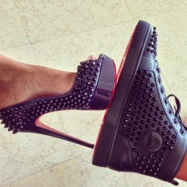 0cbfb5f81ff Christian Louboutin Spiked High-Top Sneaker - Neiman Marcus | shoes ...