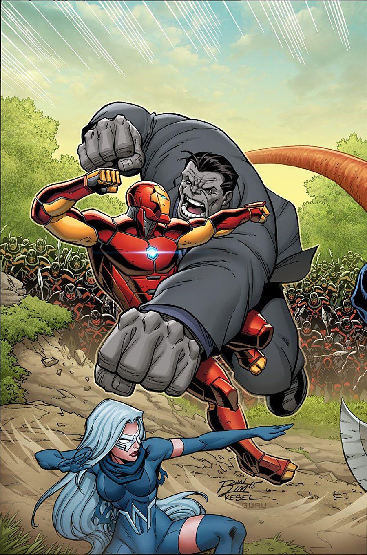 Iron Man vs Joe Fixit aka Hulk (Contest of Champions Vol.2 #1Cover ...