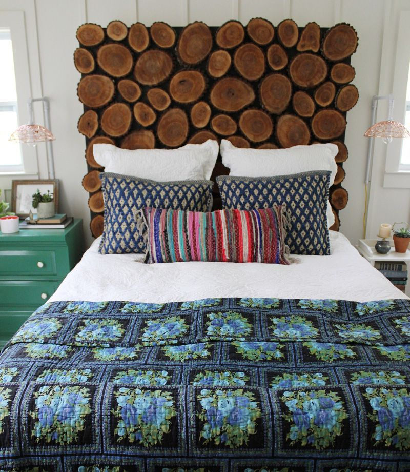 Diy Rustic Headboard Tutorial Rustic Headboard Diy Log