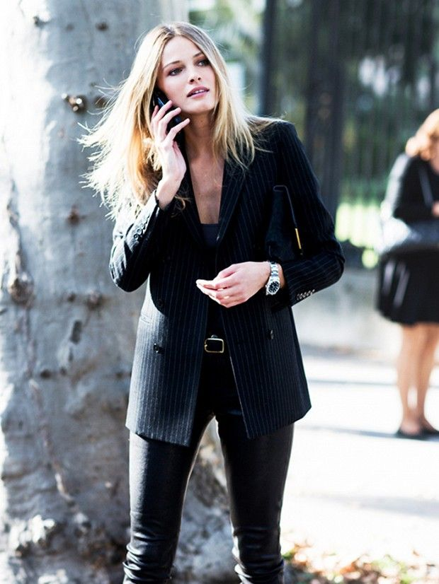Outshine the men at work with your tailored suit. via @WhoWhatWear - menswear inspired
