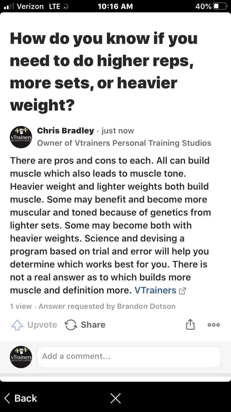Heavy Or Light Weights In 2020 Personal Training Studio Personal Training Person