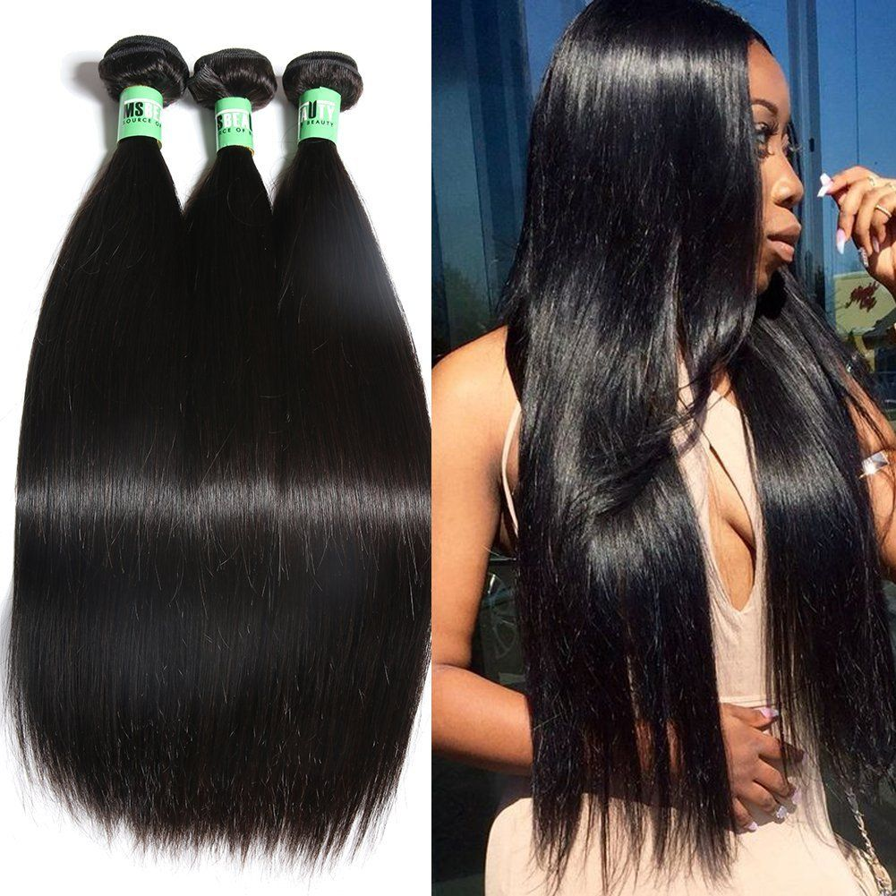 Msbeauty 3 Bundles Of Peruvian Straight Hair 7a Unprocessed Virgin