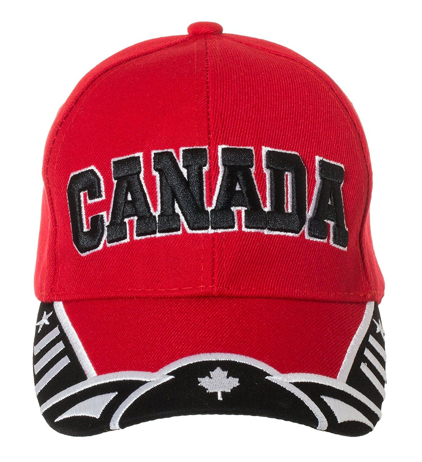 9fd20c9b5a5 Canada Red and White National Pride Hat - 100% Acrylic Embroidered ...