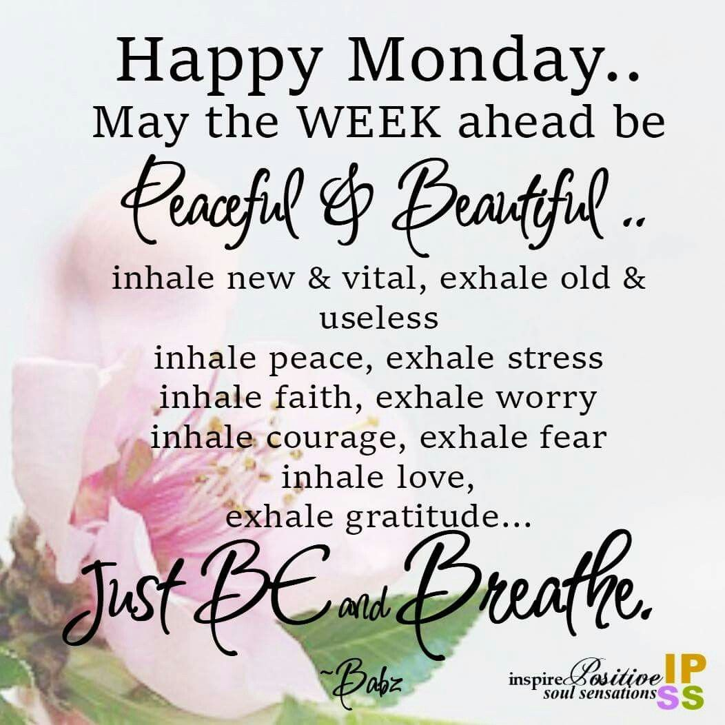 Happy Monday Happy Weekdays Pinterest Mondays Blessings And
