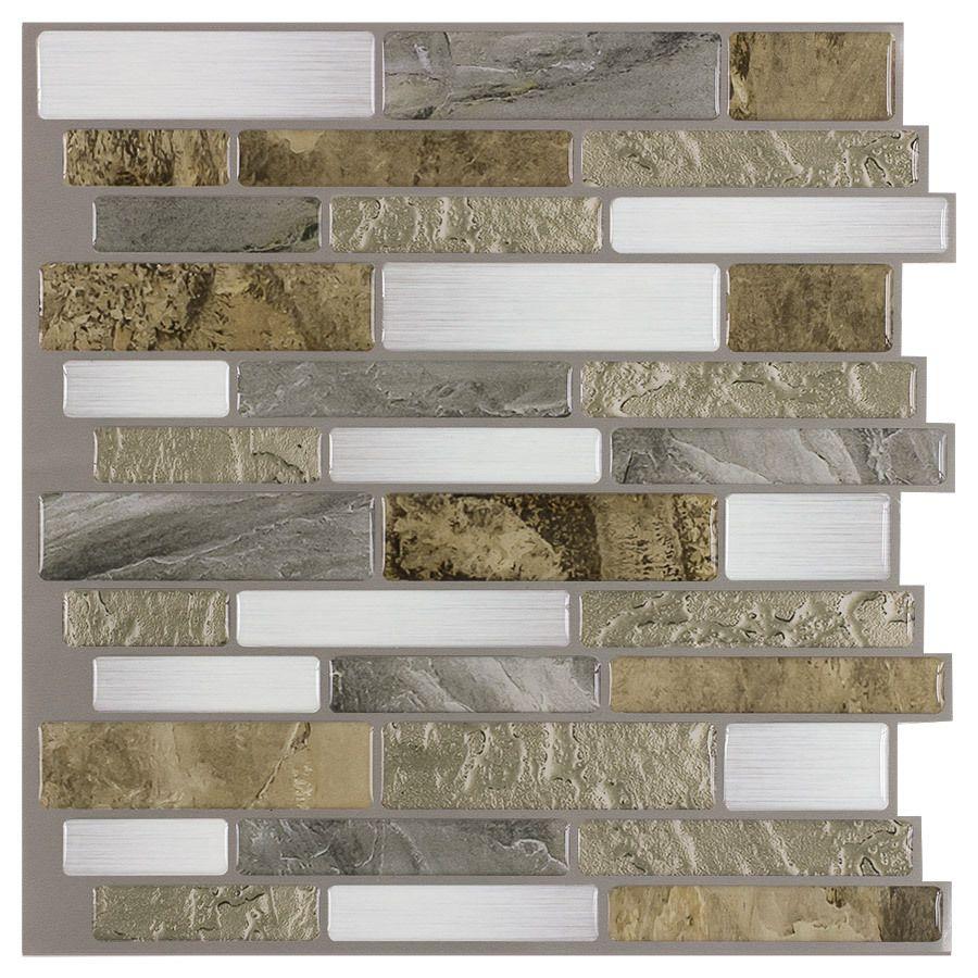 Shop Peel Stick Mosaics Mountain Terrain Composite Vinyl Mosaic