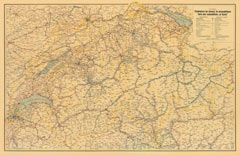 Nostalgic Map of Switzerland. Poster - swisstravelcenter.ch | Hallwag Kümmerly+Frey