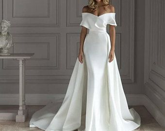 Wedding dress HILORI • Wedding dress • Bridal gown • Royal slevees  • Wedding dress A-line • long tr