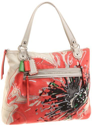 943f282d74 Coach Limited Edition Placed Flower Glam Shopper Bag Purse Tote 19029 Coach