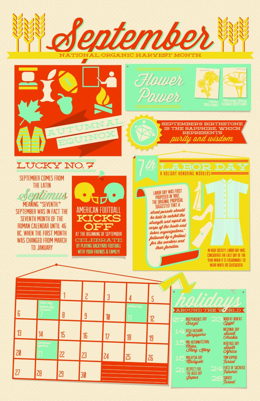 September Infographic | 2015 Infographic Wall Calendar | Pinterest ...
