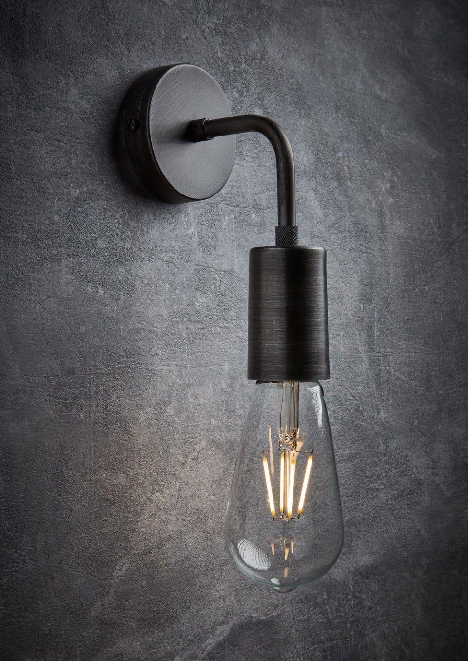 Vintage Sleek Edison Wall Light In Pewter Urban Style Industrial Lighting By I Industrial Light Fixtures Vintage Industrial Lighting Industrial Style Lighting