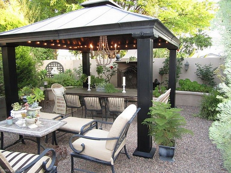 75 Stunning Gravel Patio Design Ideas Patio Gazebo Patio Pavers