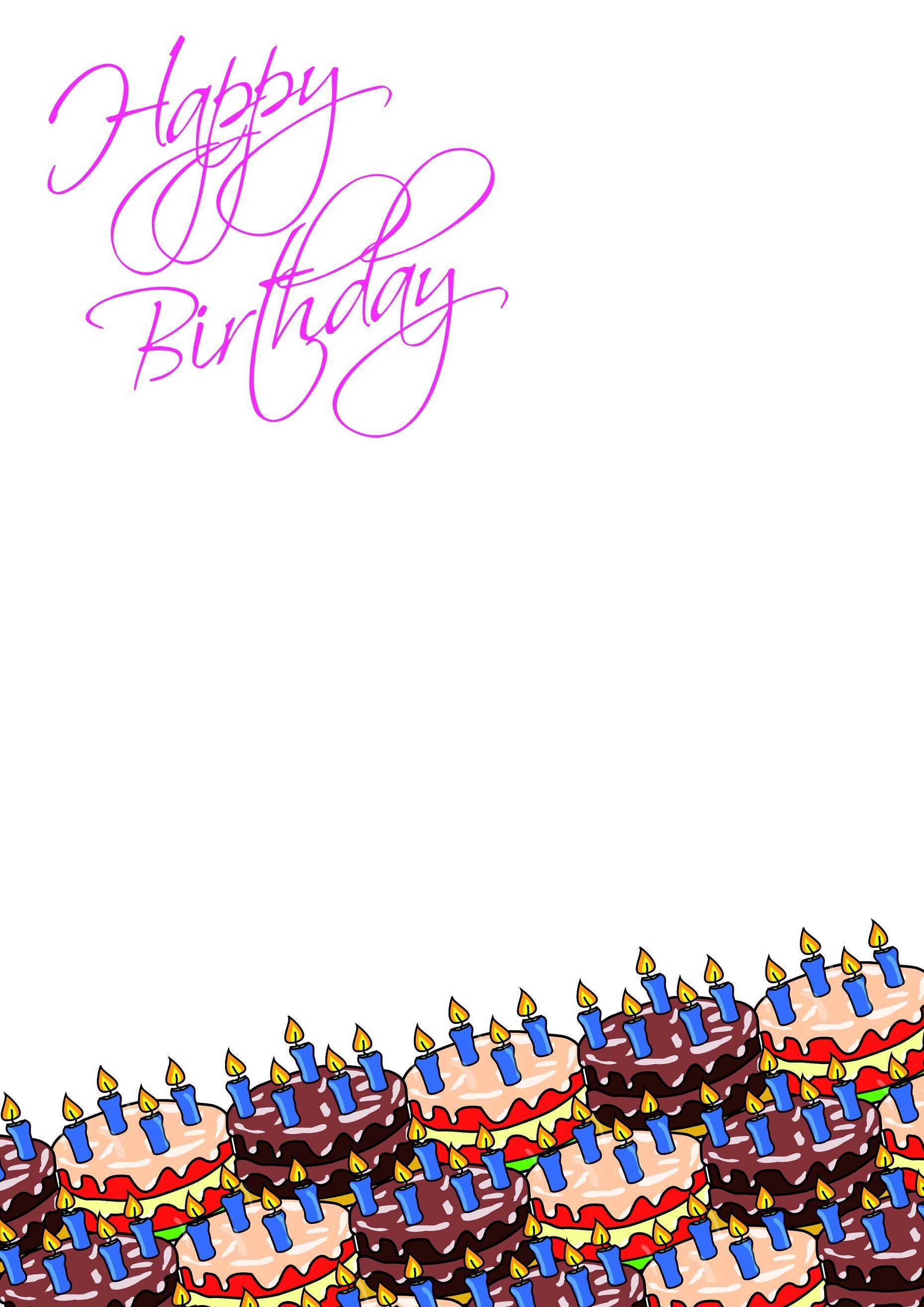 Geburstags Briefpapier Vorlagen Birthday Cake In 2020 Briefpapier Weihnachten Briefpapier Vorlage Briefpapier