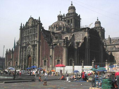 Catedral de Mexico D.F. en el Zócalo.