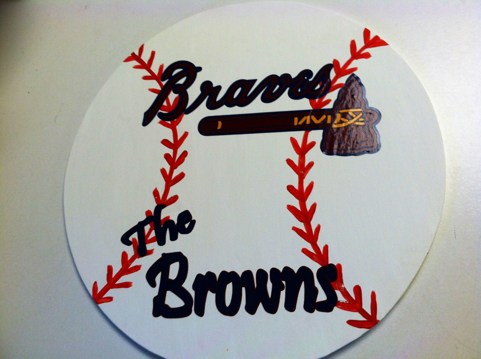 Braves Baseball Door Hanger