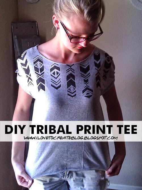 DIY Tribal Print Tee