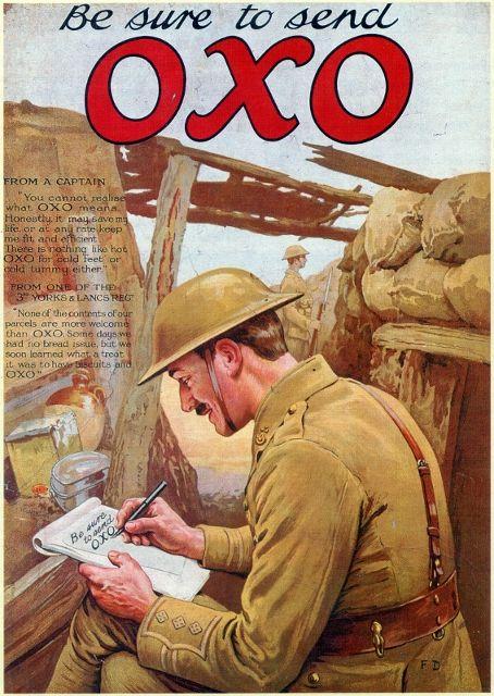 Oxo Advert War Send Oxo A1 A2 A3 A4 A5 Vintage Art Print Poster