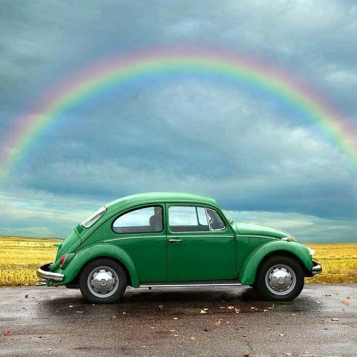 Rainbowed VW #EmeraldIsleGreen #volkswagen