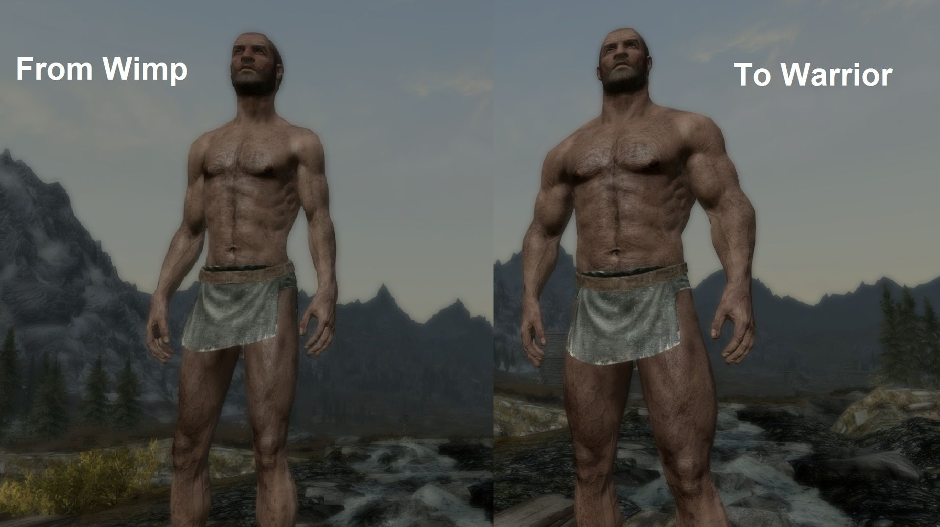 Pumping Iron - Dynamic Muscle Growth by Gopher | Skyrim