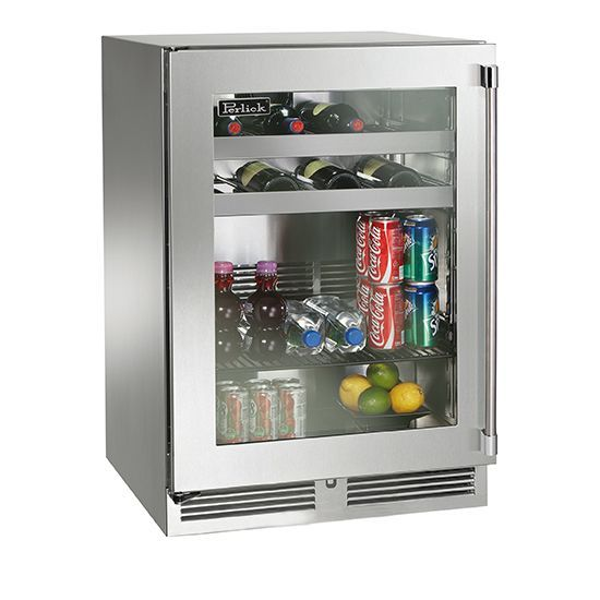 Perlick 24 Beverage Center Wglass Door Outdoorliving