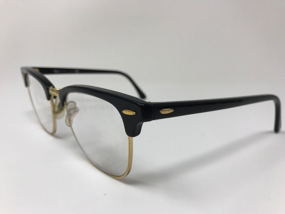 6b897380b24d5 Ray-Ban Classic Clubmaster Eyeglasses RB3016 W0365 49-21 Glossy Black Gold  KL23  fashion  clothing  shoes  accessories  unisexclothingshoesaccs ...